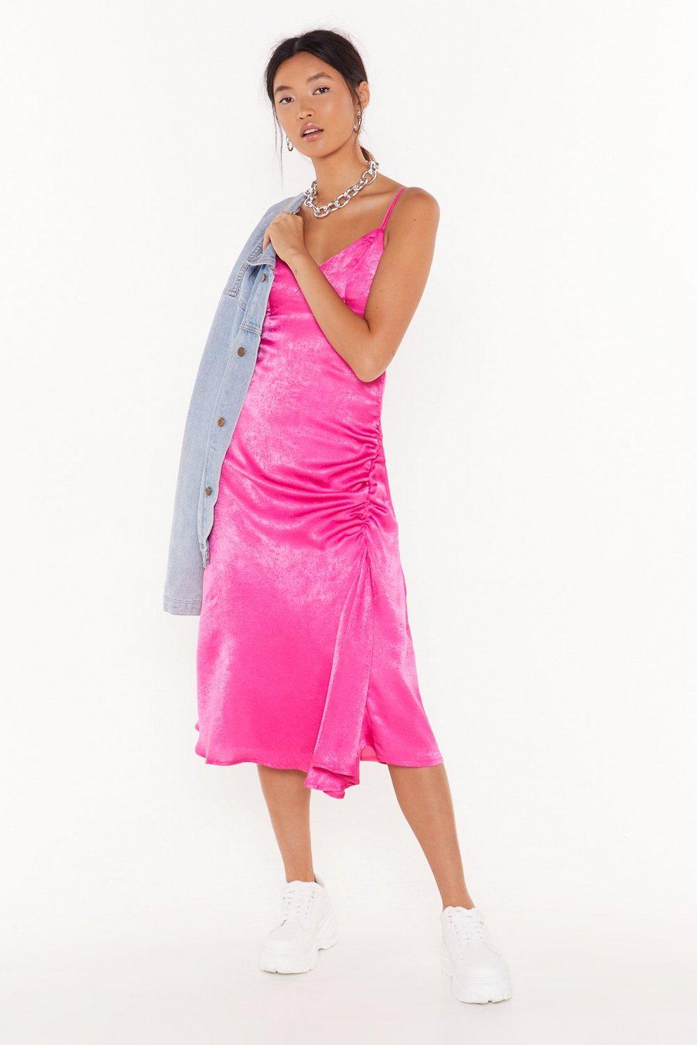 f7ab93cd86bc8 City Slicker Satin Midi Dress