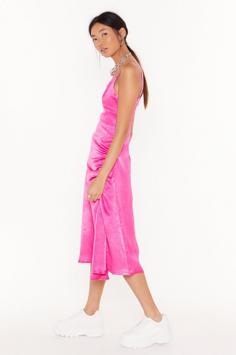 e3c51c06f67e4 City Slicker Satin Midi Dress | Shop Clothes at Nasty Gal!