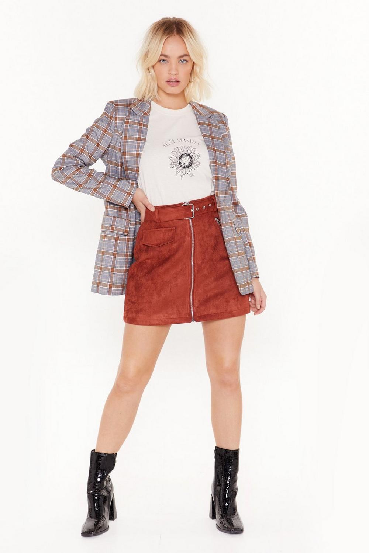 d15ce548565ab3 Mini jupe en daim à ceinture Je ne daigne pas | Shop Clothes at Nasty Gal!
