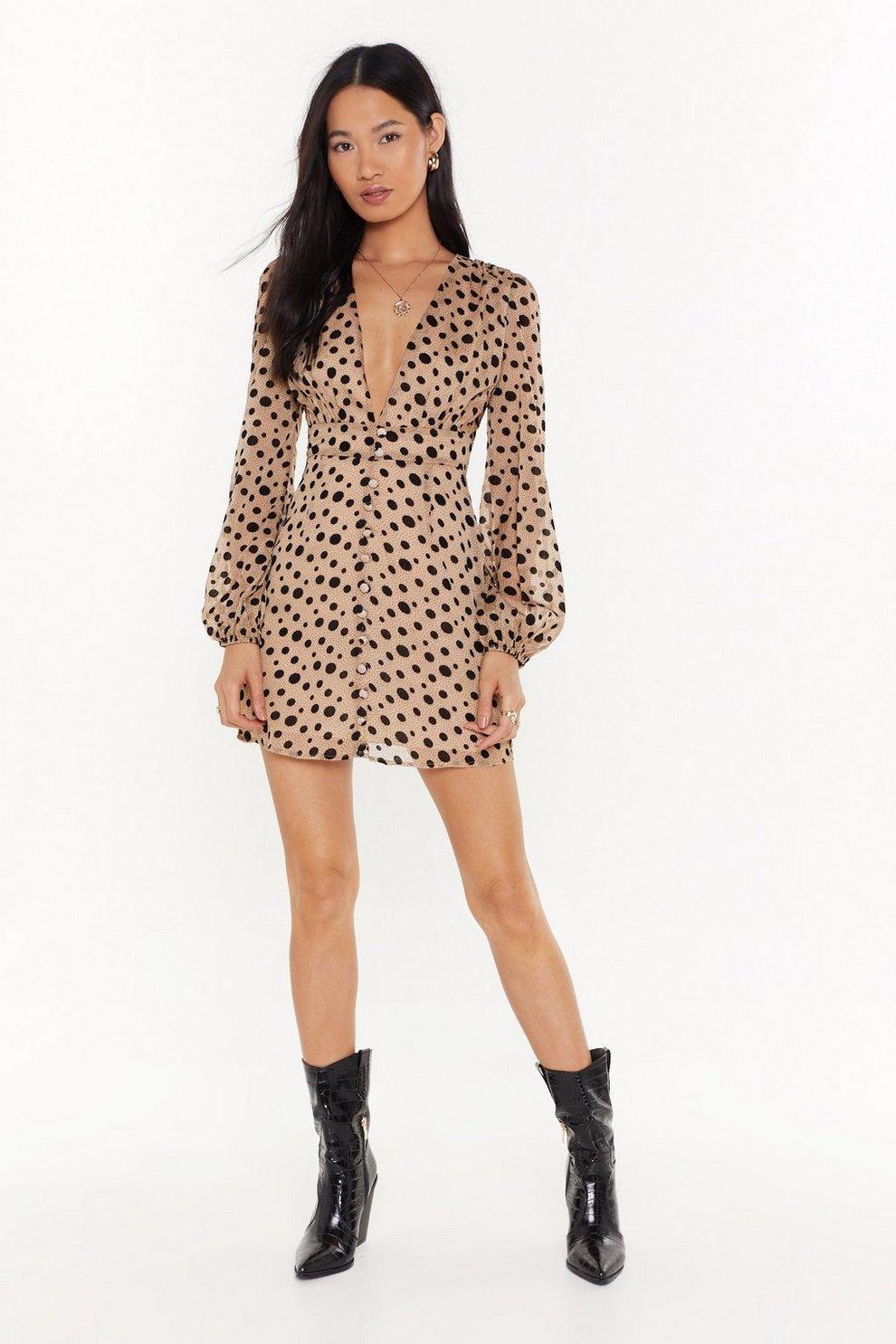 ee84ac69cacae Dot Summer Nights Polka Dot Mini Dress | Shop Clothes at Nasty Gal!