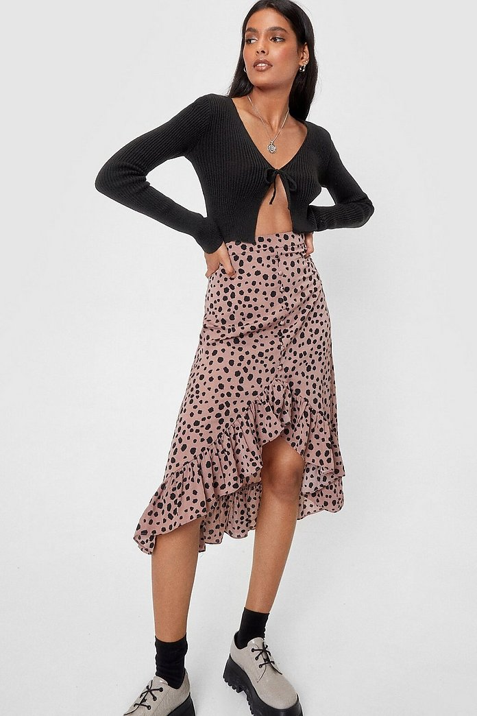 look for lower price with 2019 authentic Call It Dot You Want Polka Dot Midi Skirt