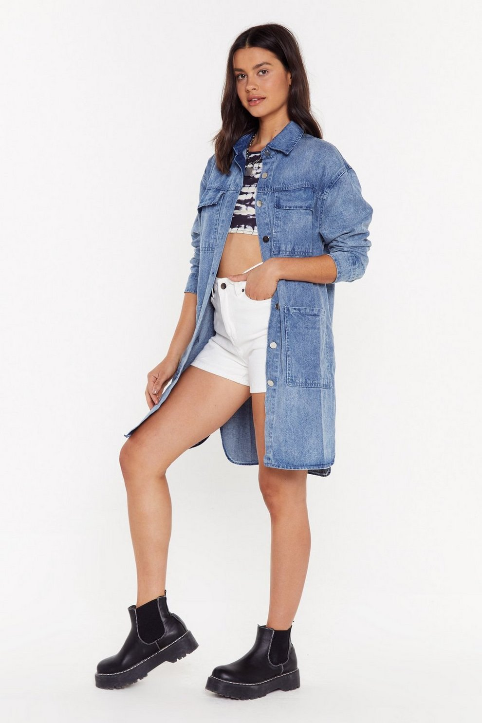 4fb846825f0 When the Party's Oversized Denim Jacket | Shop Clothes at Nasty Gal!