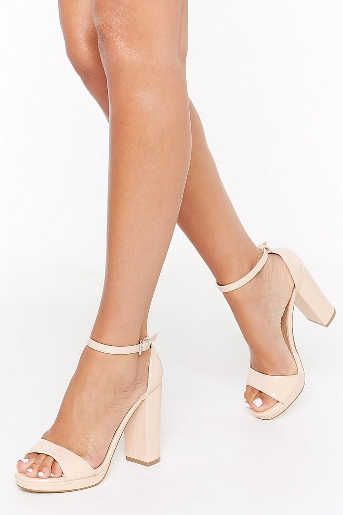 High on You Patent Faux Leather Platform Heels | Nasty Gal