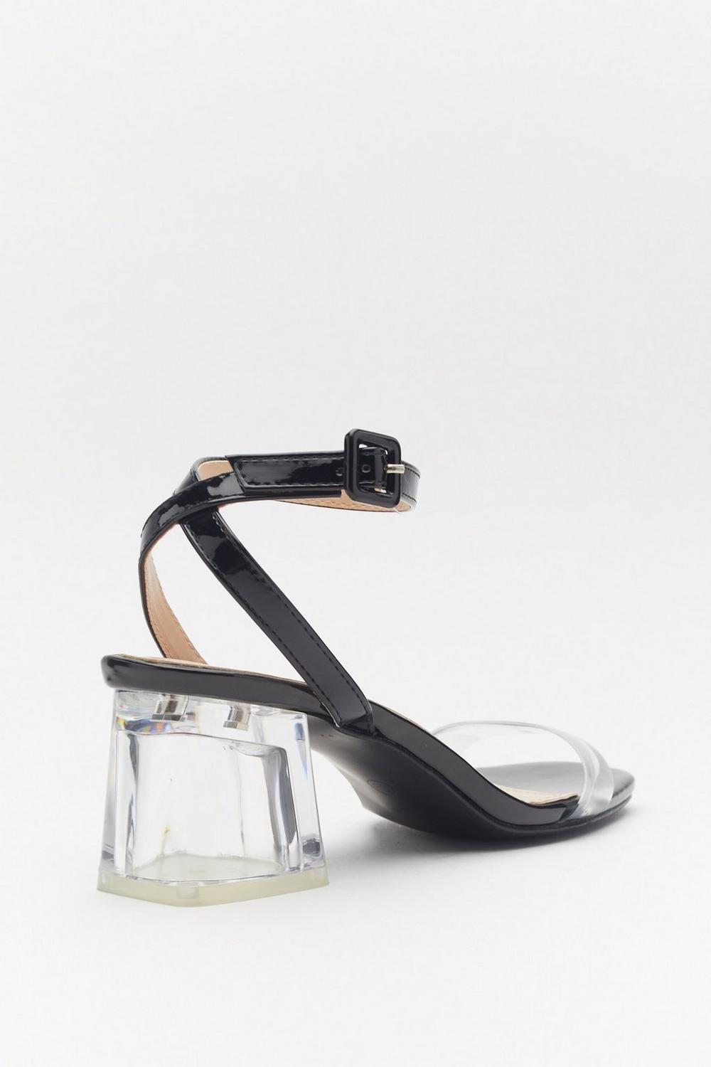 1ed564665fd Clear the Way Patent Block Heel Sandals   Shop Clothes at Nasty Gal!