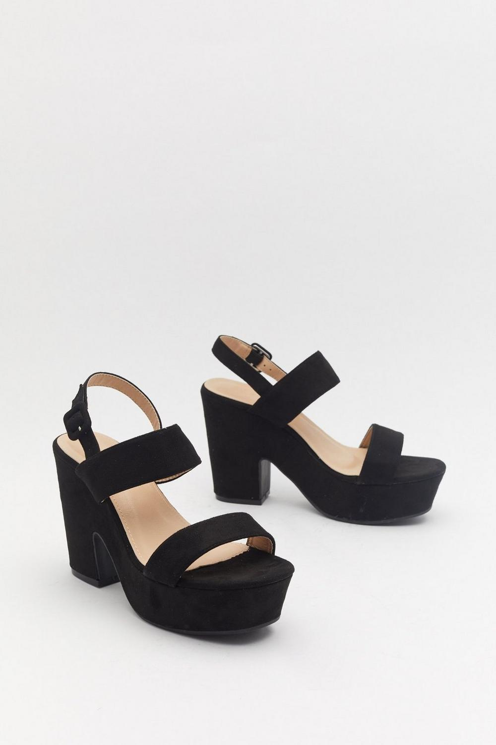 857d502a7bb Head Over Heels Faux Suede Platform Sandals | Shop Clothes at Nasty Gal!