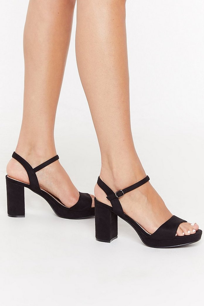 Immi Suede Low Platform 2 Part Heels | Nasty Gal