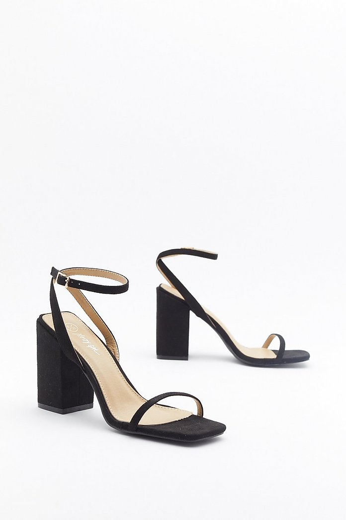I Won't Square Strappy Block Heel Sandals | Shop Clothes at Nasty Gal!