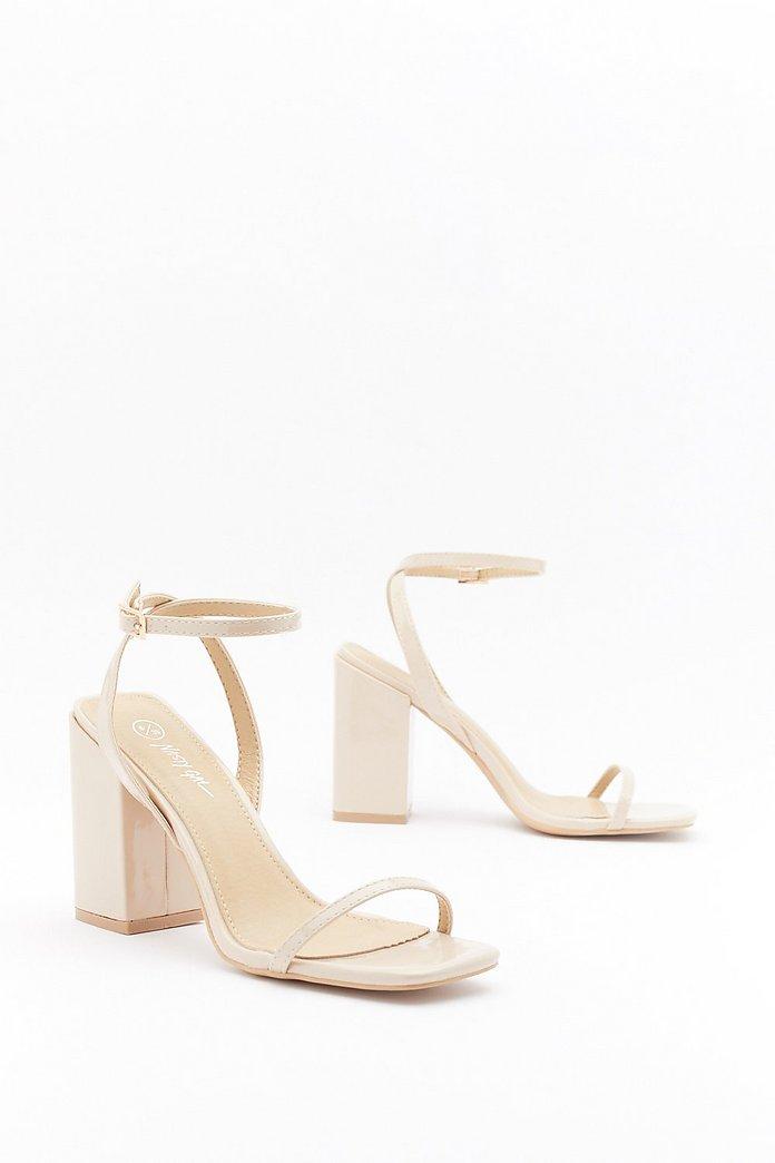 I Won't Square Strappy Block Heel Sandals | Nasty Gal