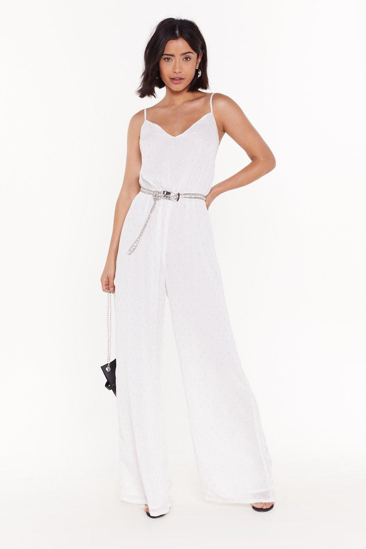 f19011161d Shine a Little Love Metallic Wide-Leg Jumpsuit | Shop Clothes at ...