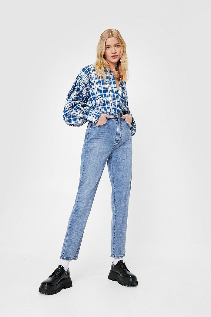 distinctive design most fashionable fashionable and attractive package Straight Talking Medium Wash High-Waisted Jeans | Shop Clothes at Nasty Gal!