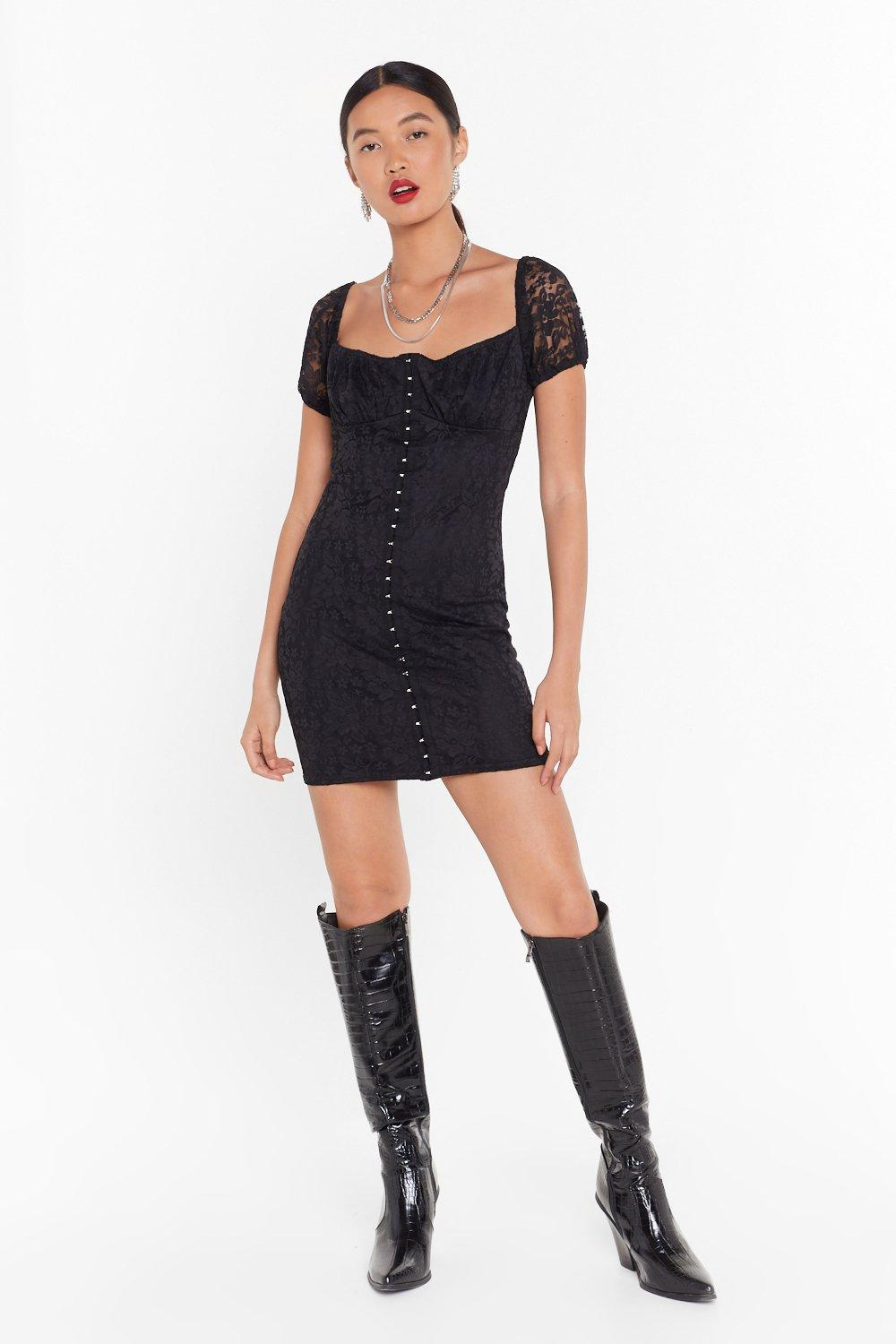 2008d6a8331 Lace Just Do It Hook and Eye Mini Dress | Shop Clothes at Nasty Gal!