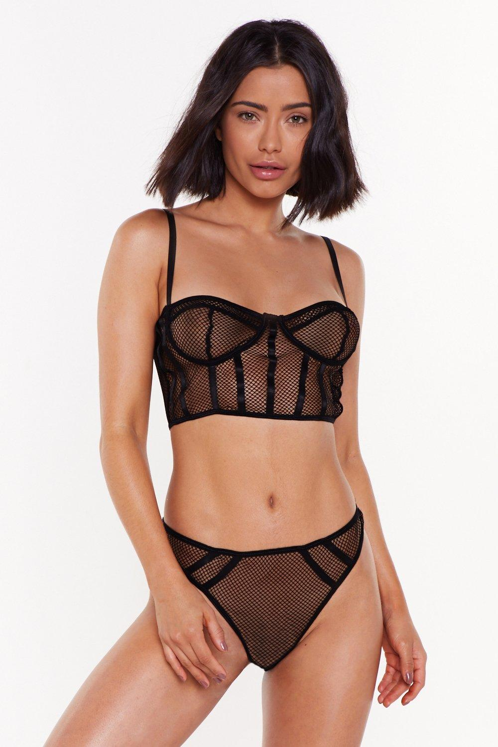 9d1894b9226b Corset Values Mesh Bralette and Panty Set | Shop Clothes at Nasty Gal!