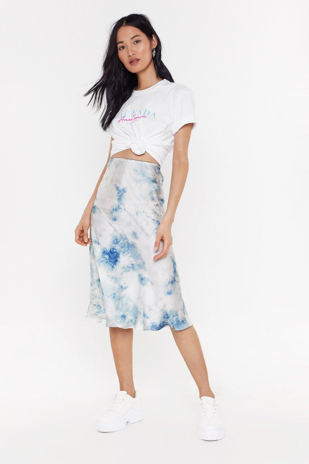 bc5537edb9 Dying To Tie Biased Hem Midi Skirt | Shop Clothes at Nasty Gal!