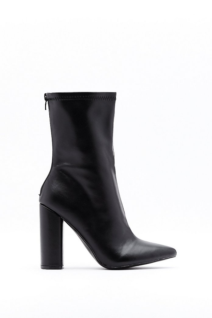 High Heel Boots Pointed Toe