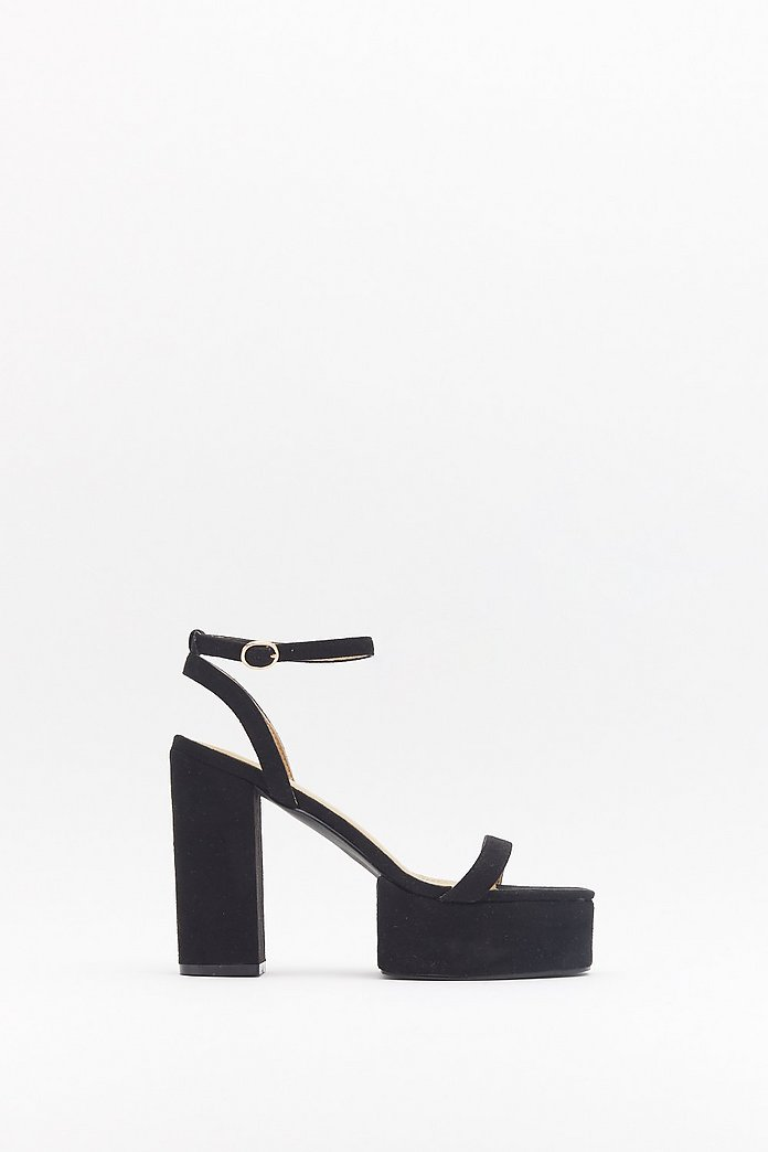 High Above It All Faux Suede Platform Heels | Nasty Gal