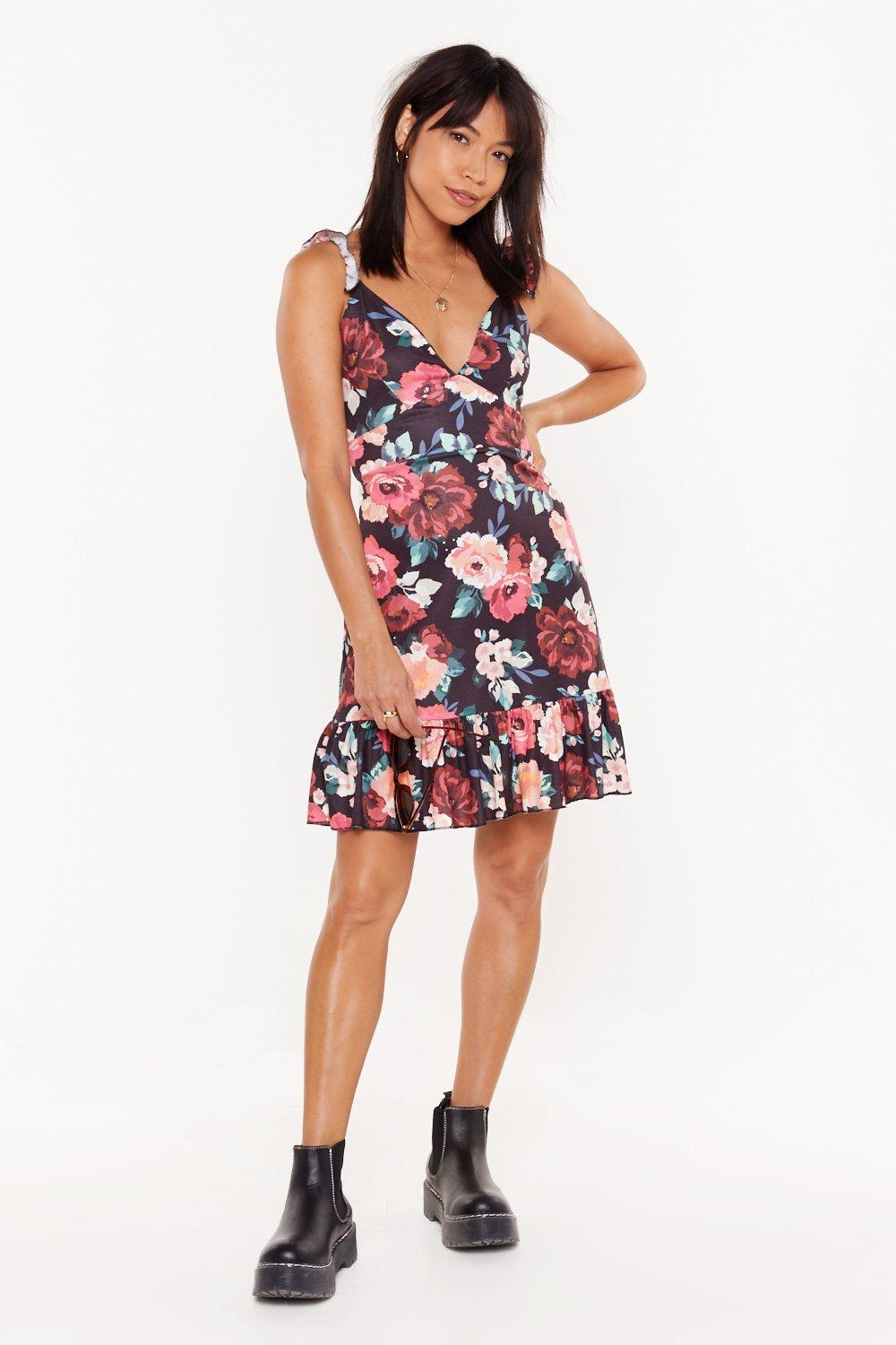 a6a617510e9c9 Flower You with Love Floral Tie Mini Dress | Shop Clothes at Nasty Gal!