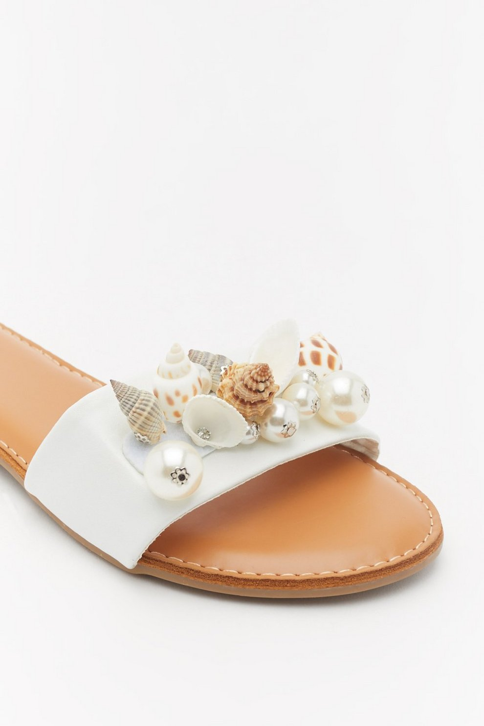 6ca6ee90b Shell Embellished Flat Mules | Shop Clothes at Nasty Gal!