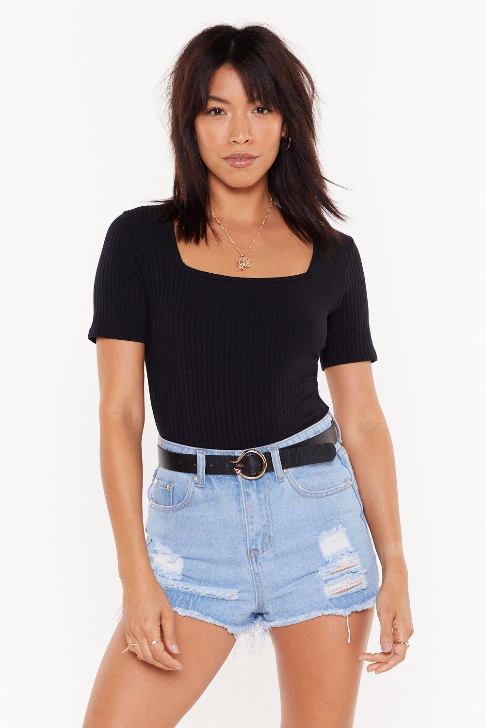 045aab2d MS Sqaure Neck Short Sleeve Bodysuit | Shop Clothes at Nasty Gal!