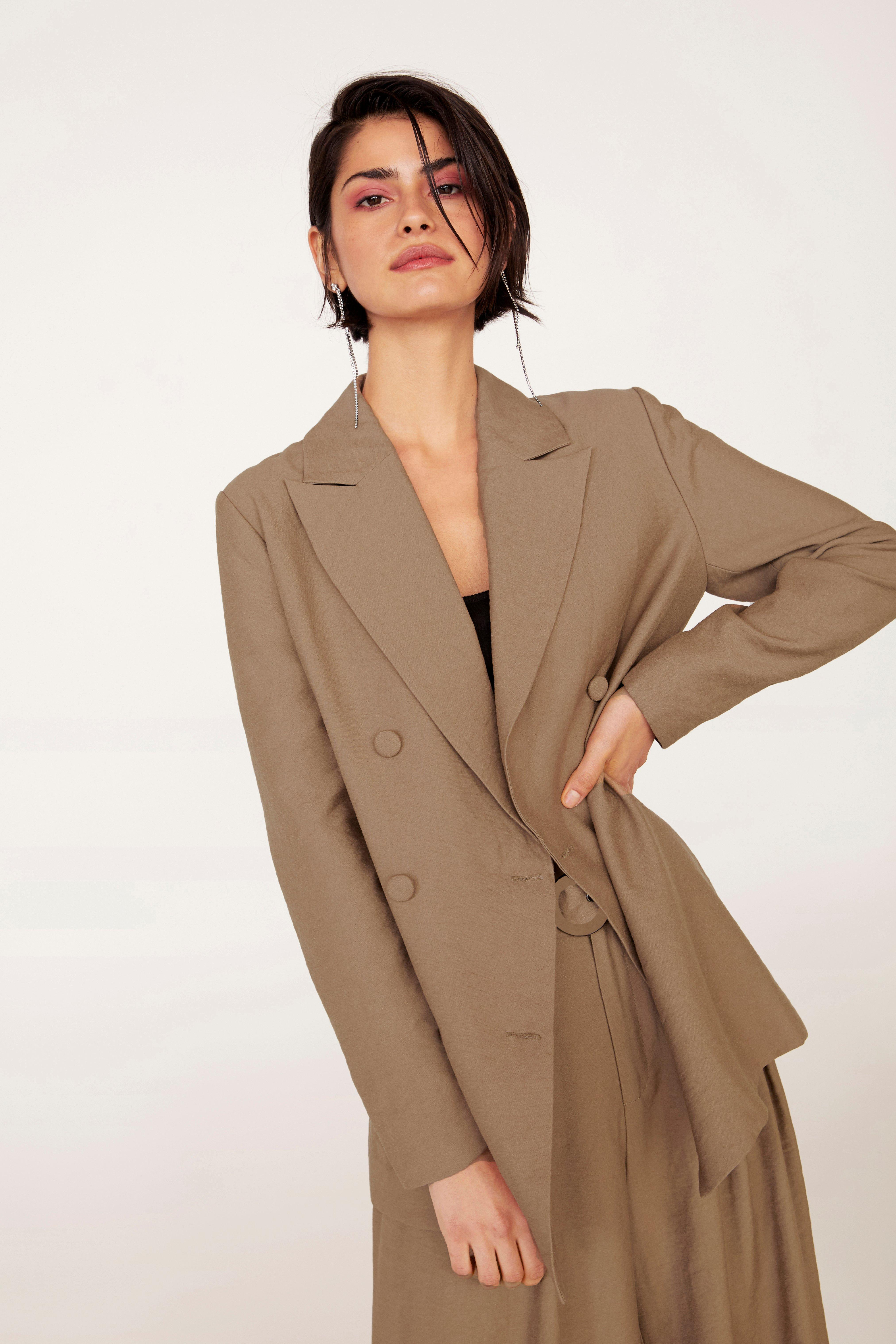 Business As Usual Oversized Double Breasted Blazer