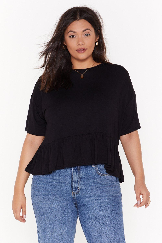 40e23f3777dd MS Ruffle Hem Boxy T Shirt | Shop Clothes at Nasty Gal!