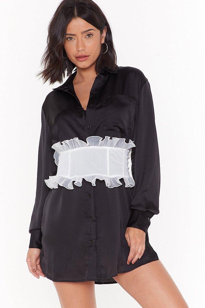 acheter en ligne 40538 61a6c Ceinture-corset volantée Crime organzanisé   Shop Clothes at Nasty Gal!