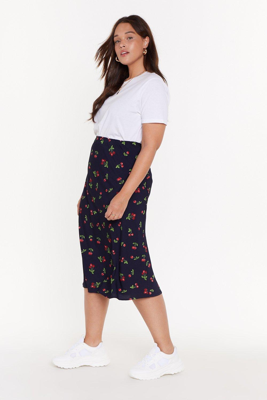 49477bb8d MS Cherry Print Bias Cut Midi Skirt   Shop Clothes at Nasty Gal!