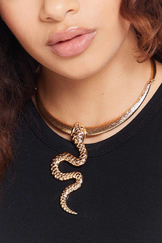 collier ras de cou serpent