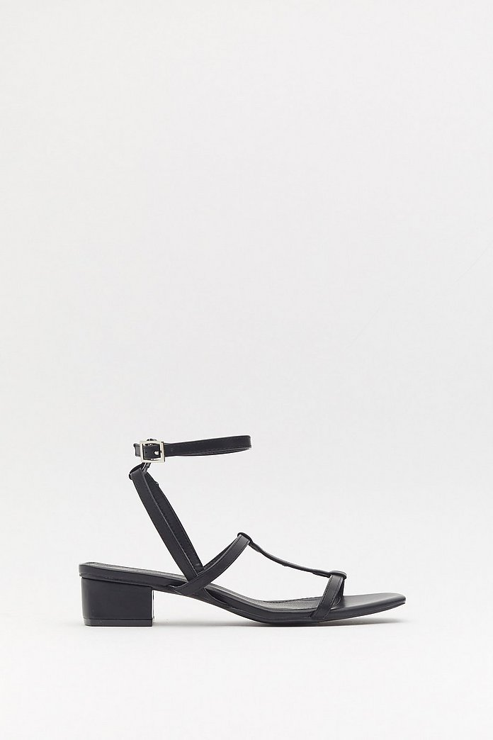 Square Toe Strappy Low Block Heels | Nasty Gal