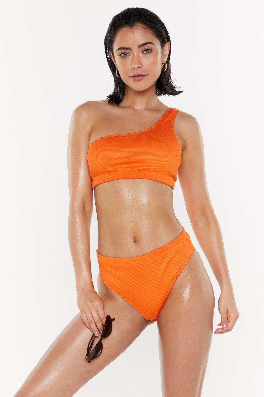16ed153afc20 Barcelona Ribbed one Shoulder Bikini Set   Shop Clothes at Nasty Gal!