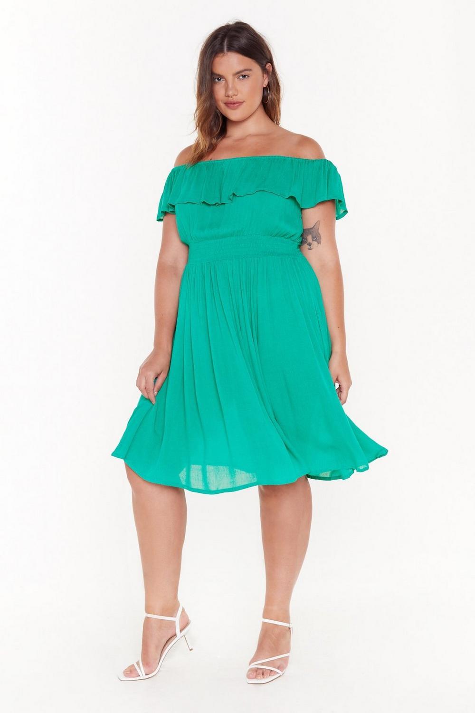 ff90b18c97ca I'm a Frillseeker Off-the-Shoulder Midi Dress   Shop Clothes at ...