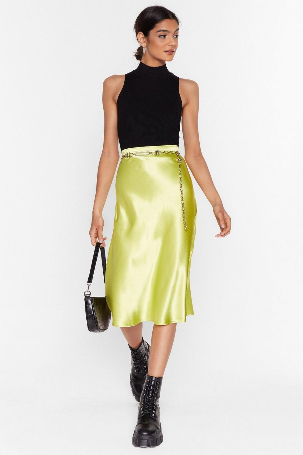 2cf005d67e0 I Sleek Because I Can Bias Cut Satin Midi Skirt | Shop Clothes at Nasty Gal!