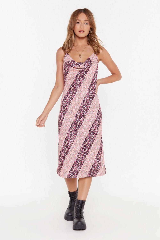 a60438f363d9 Cowl Me Crazy Floral Midi Dress | Shop Clothes at Nasty Gal!