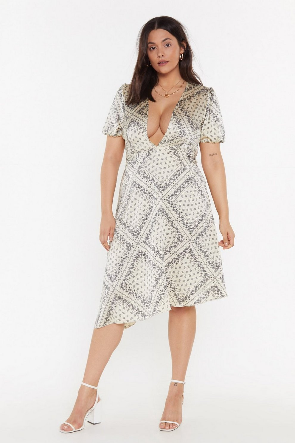 0fdd5dfd385fd Plunge in Printed Plus Dress | Shop Clothes at Nasty Gal!