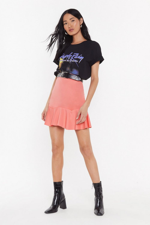 f7575fcce5dd30 Mini jupe à taille haute et ourlet volanté Fly or Die   Shop Clothes at  Nasty Gal!