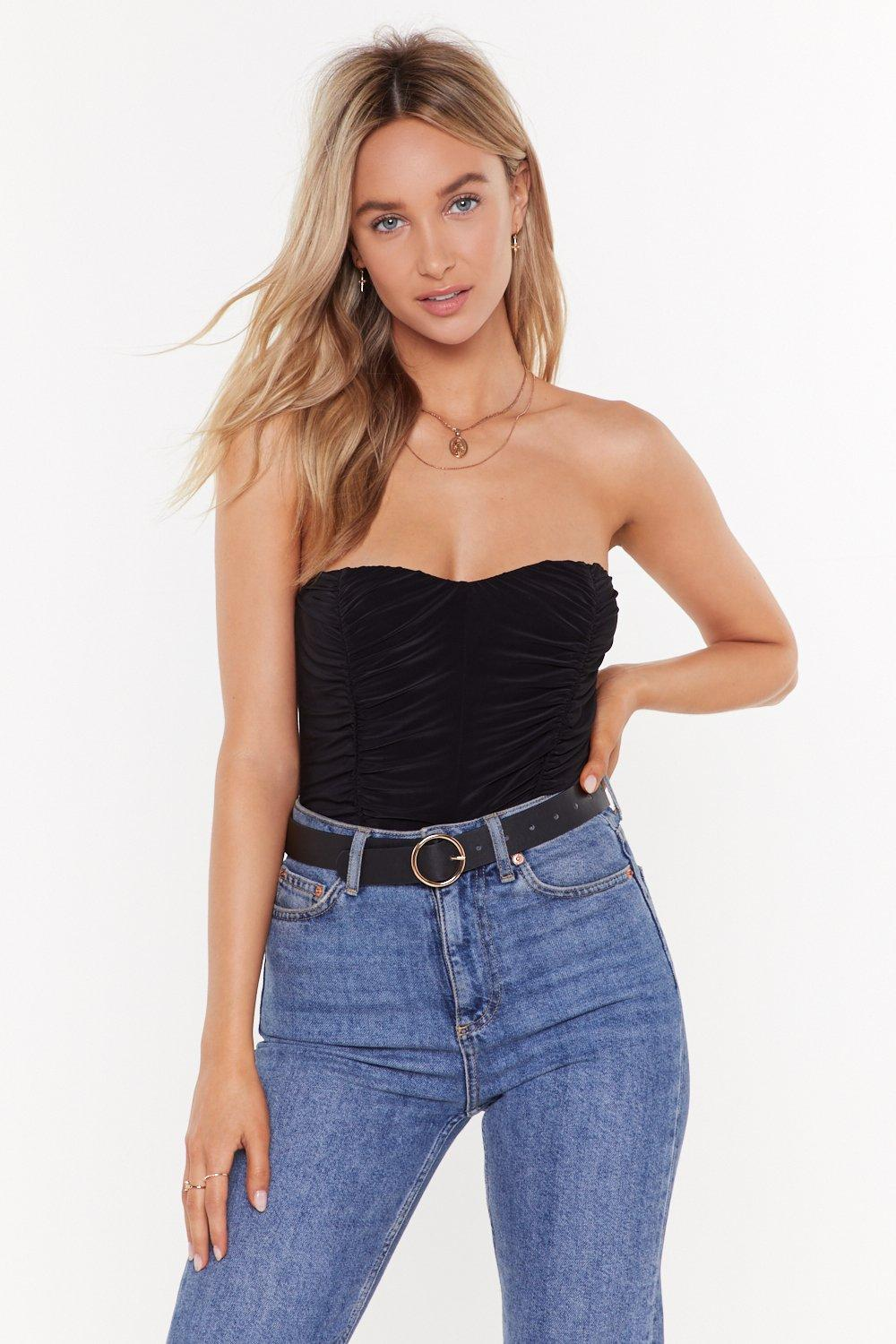 9aaf571f0e Feelin' Slinky Strapless Ruched Bodysuit | Shop Clothes at Nasty Gal!