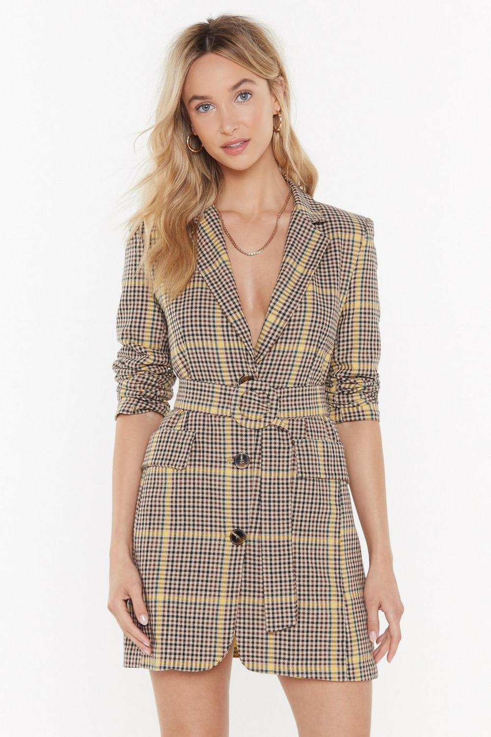a422be66e8f9e Totally Checked Out Belted Blazer Dress | Shop Clothes at Nasty Gal!