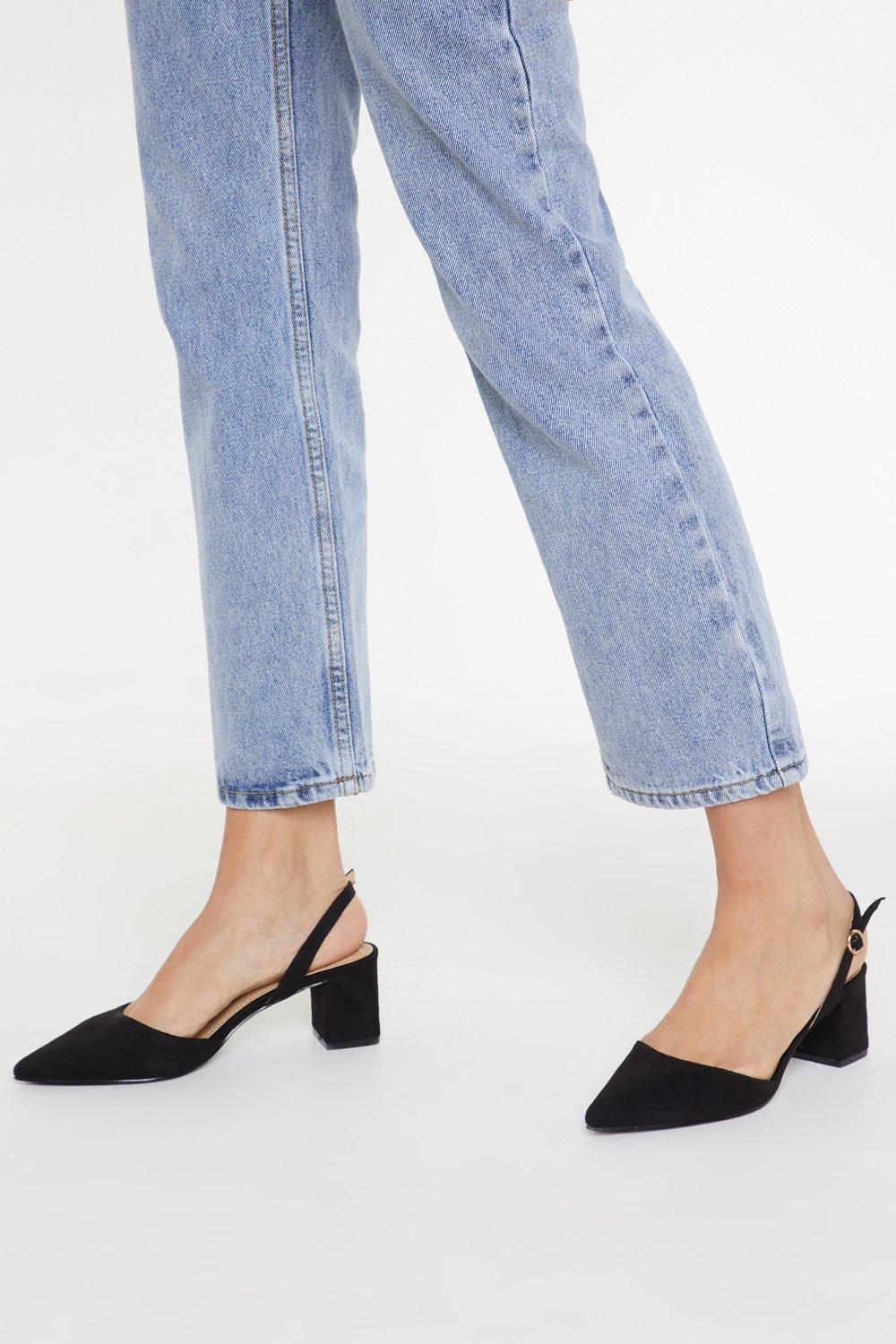 2a8568f641f Immi Suede Low Block Heel Slingback Court | Shop Clothes at Nasty Gal!
