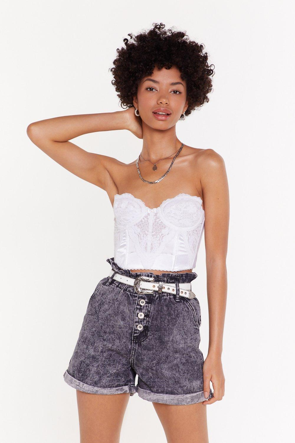 541afc07cf205 Turn Up the Music Washed Denim Shorts | Shop Clothes at Nasty Gal!