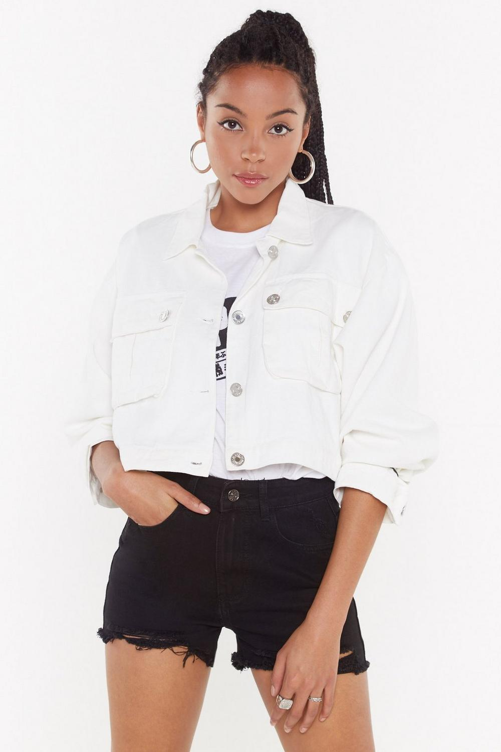 2f5f00af5efbc0 On Crop of the Game Utility Jacket | Shop Clothes at Nasty Gal!