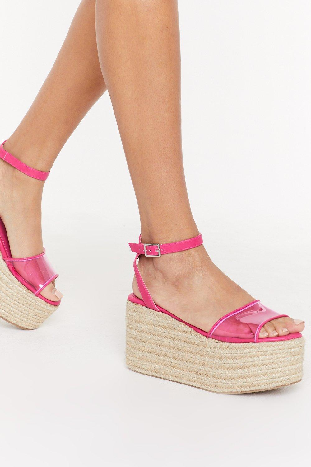 ee4e560be01 Let's Clear Things Up Perspex Platform Sandals   Shop Clothes at Nasty Gal!