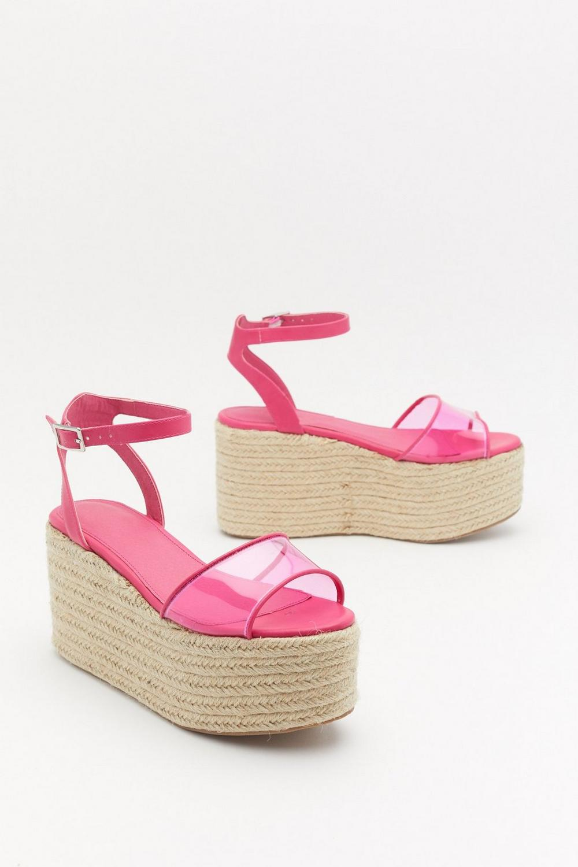 ba9feb7d3a5 Let's Clear Things Up Perspex Platform Sandals   Shop Clothes at ...