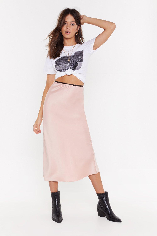 71ac59c98d72 You're Satin Luck Bias Cut Midi Skirt | Shop Clothes at Nasty Gal!