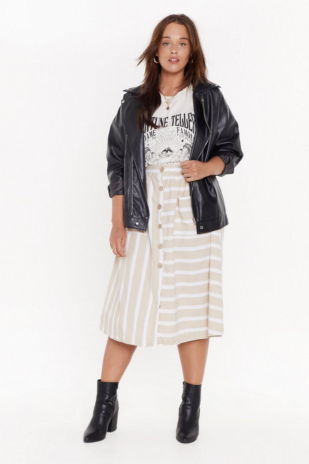 24aa8694c MS Button Front Stripe Midi Skirt   Shop Clothes at Nasty Gal!