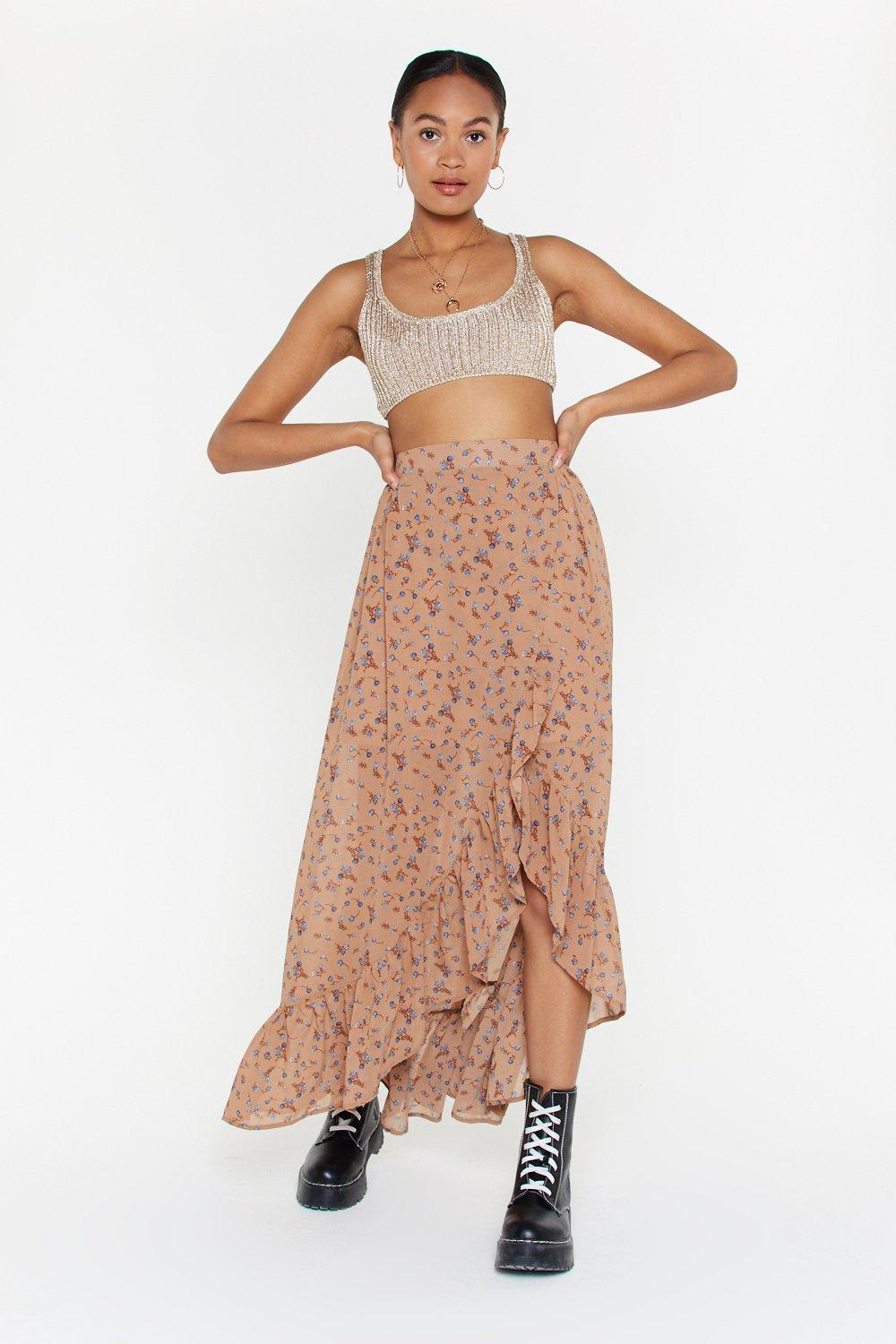 fafffe2f8d On a Flower Trip Floral Maxi Skirt | Shop Clothes at Nasty Gal!