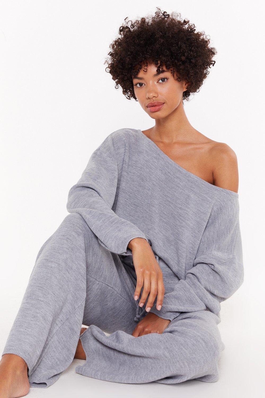 325eecf7408 Grey Marl Wide Leg Pants Lounge Set | Shop Clothes at Nasty Gal!
