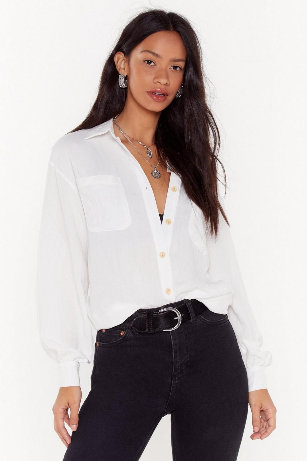 c80afc8f6967 Listen to Me Oversized Button-Down Shirt | Shop Clothes at Nasty Gal!