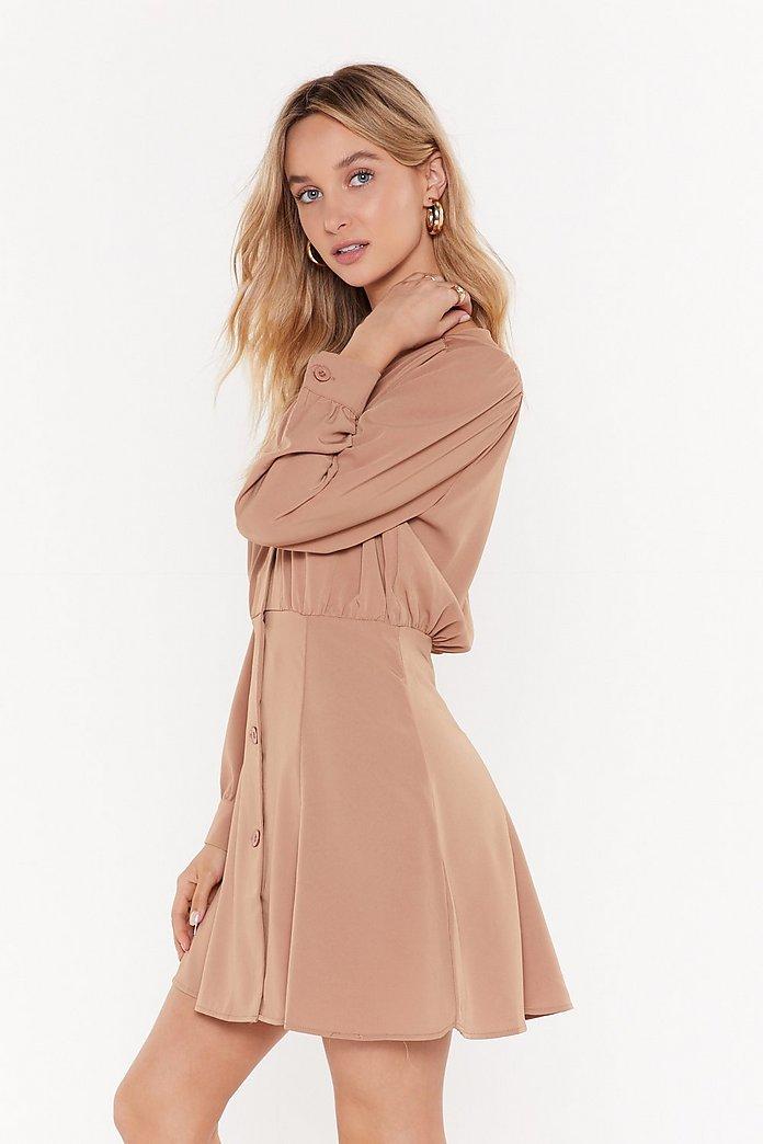huge discount bf5f0 7d06d Gonna Flip Button-Down Mini Dress | Shop Clothes at Nasty Gal!