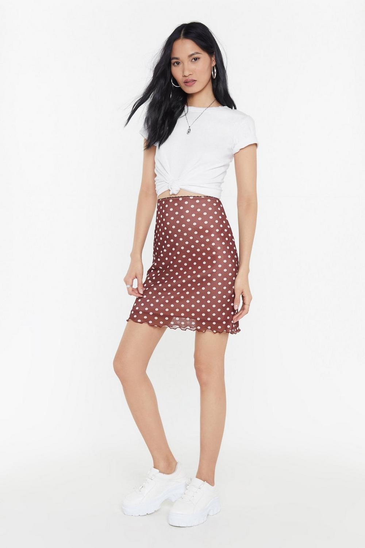 bd9ea92309 Polka Dot Lettuce Hem Mesh Mini Skirt | Shop Clothes at Nasty Gal!