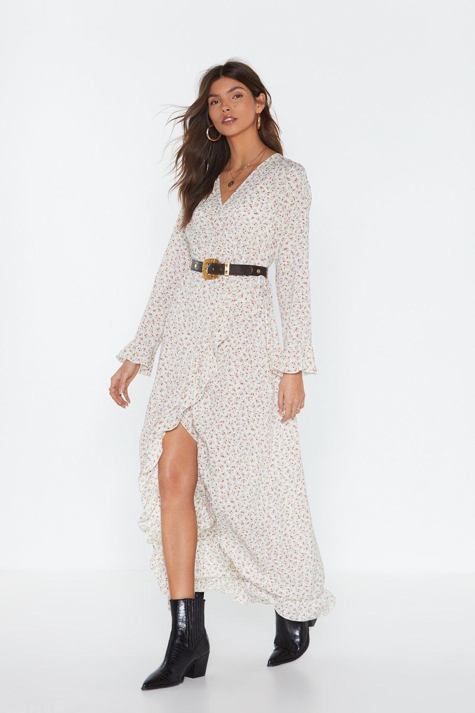 6fba63d45646 MS Ruffle Wrap Midi Tea Dress | Shop Clothes at Nasty Gal!
