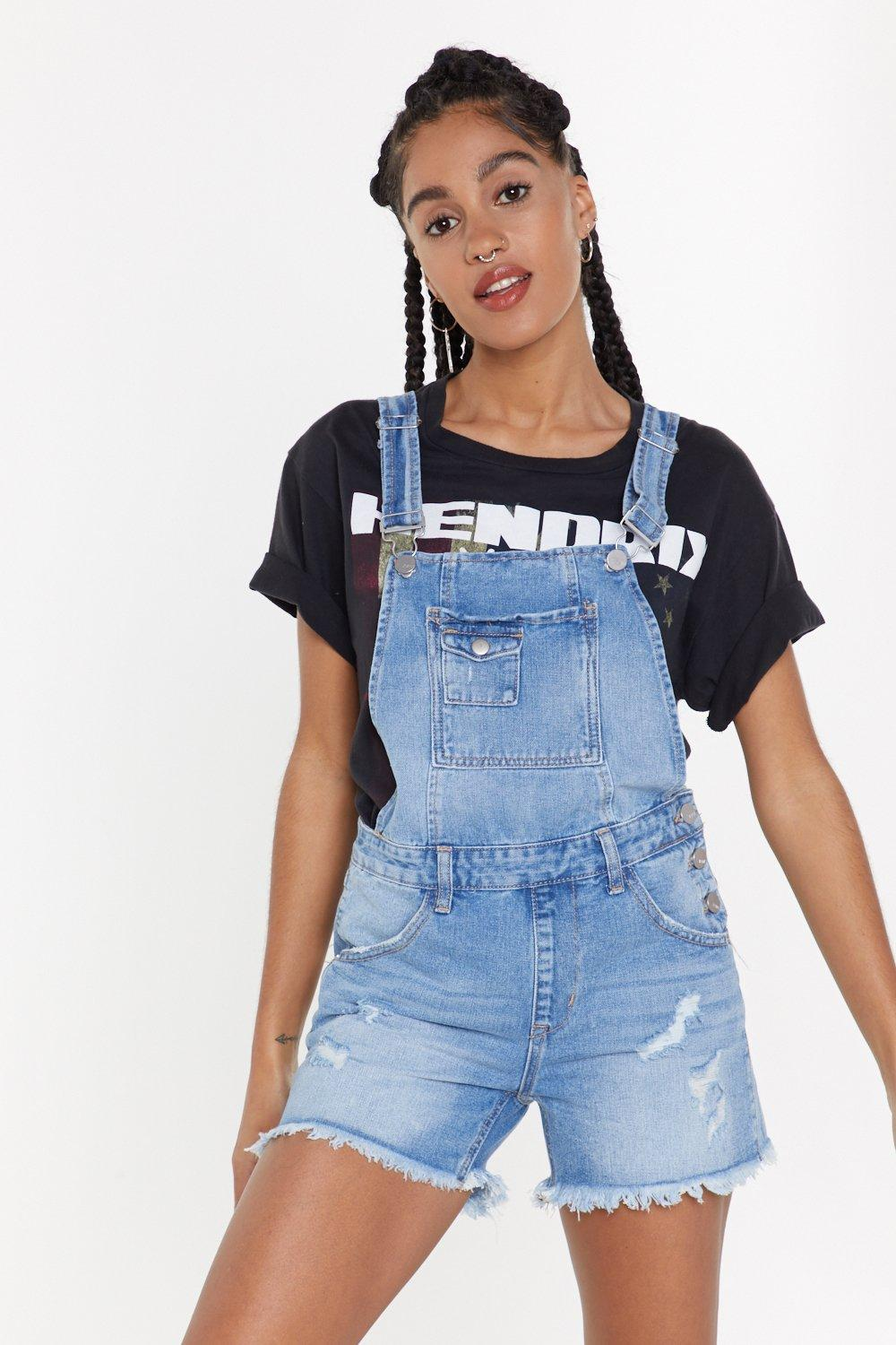 8d04646fb8 Scratch That Distressed Cropped Overalls | Shop Clothes at Nasty Gal!